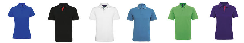 Printed and embroidered polos